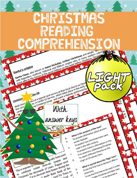 [FREE] Christmas Reading Comprehension Light Pack | Reading Comprehension |
