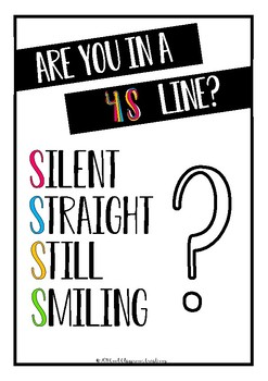 *FREE* Classroom Management 4S Line Up Poster