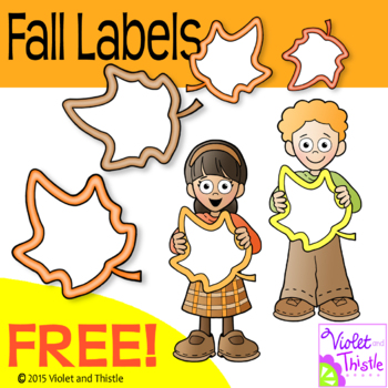 FREE Fall Backpack Kids Maple Leaf Lables Clipart Autumn Frames Clip Art