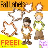 FREE Fall Kids Clipart Maple Leaf Labels Autumn Frames Clip Art Clipart