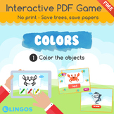 [FREE] Practice COLORS   Interactive PDF Game - No print  