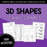 Name, Analyze and Compare 3D Shapes CARD GAME