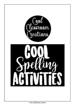 Cool Spelling Activities