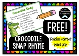 *FREE* Crocodile Snap Poster- Pencil Grip *THRASS*