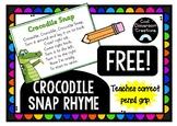 *FREE* Crocodile Snap Poster- Pencil Grip *THRASS*