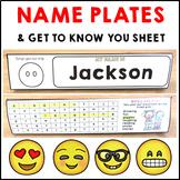 Student Nameplates