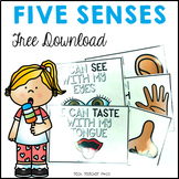 ** FREE DOWNLOAD ** Five Senses Flash Cards