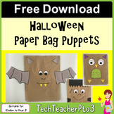 ** FREE DOWNLOAD ** Halloween Paper Bag Puppets