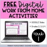 FREE Digital Work From Home Activities Google Slides: WEEK