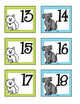 * FREE* Dog Theme Calendar Cards
