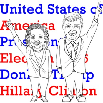 *FREE* Donald Trump and Hillary Clinton Clip Art
