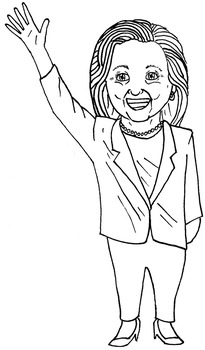 *FREE* Donald Trump and Hillary Clinton Clip Art