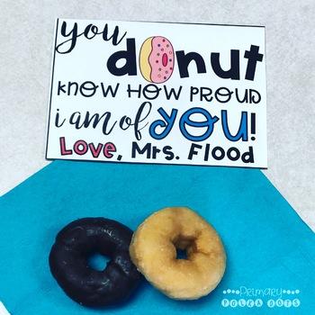 {FREE} Donut Testing Motivation - EDITABLE