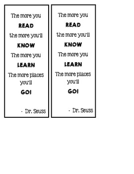 {FREE} Dr. Seuss Bookmarks