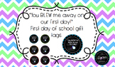 You Blew Me Away On Our First Day! Gift Tags