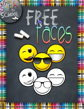 {FREE} EMOJI FACES {From Sketch to School Clipart}