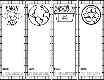 {FREE} Earth Day Bookmarks