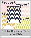 (FREE) Editable Banner in Blush, Navy, & Gold