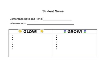 {FREE} Editable Conference Glow and Grow