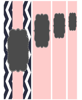 (FREE) Editable Pastel and Chevron Binder Covers and Spines