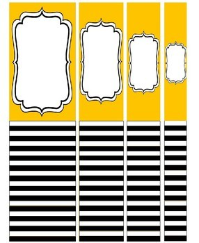 (FREE) Editable Striped Binder Covers & Spine Labels