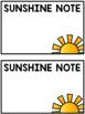 {FREE} Editable Sunshine Notes