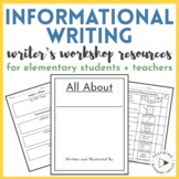 Informational Non-Fiction Writing Resources for Elementary Students + Teachers