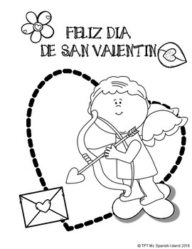 valentine coloring pages spanish | FELIZ DIA DE SAN VALENTIN «Happy Valentine's Day» by My ...