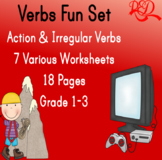 Action Verbs and Irregular Verbs Printable Bundle