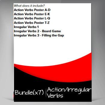 Free Verbs Pack ❘ Action Verbs ❘ Irregular Verbs