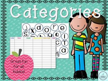 **FREE** FUN CATEGORIES/VOCABULARY GAME OR FOR ENGLISH CLASSROOMS! (NO PREP)