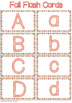 **FREE** Fall Alphabet Flash Cards**All 26 Capital and Lowercase Letters**