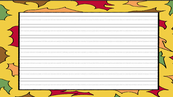 **FREE** Fall Handwriting Paper