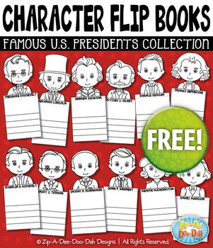 FREE U.S. Presidents Characters Flip Books Templates {Zip-A-Dee-Doo-Dah Designs}