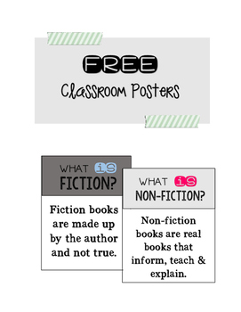 // FREE // -- Fiction/Non-Fiction Posters
