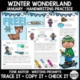 *FREE* Fine Motor Handwriting Practice - Holiday Season - Christmas - Packet