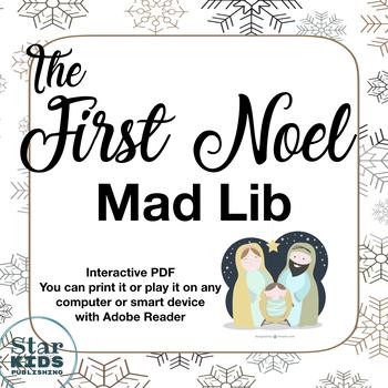*FREE* First Noel Mad Lib (printable, interactive PDF, and Google Slide)