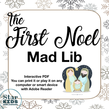 *FREE* First Noel Mad Lib (printable, interactive PDF, and Google Slide)