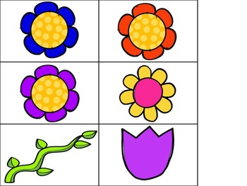 Flower Sort By Color Pocket Chart Activity