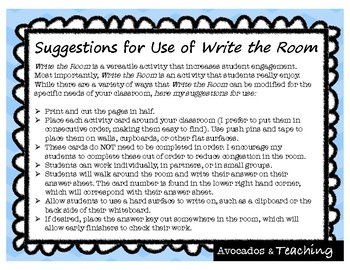 {FREE} Fourth Grade Addition and Subtraction Write the Room, Scoot - 4.NBT.4