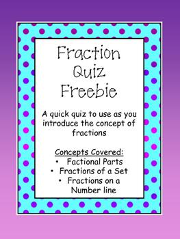 * FREE * Fraction Quiz