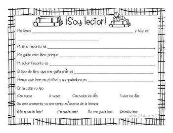 Reader Interest & Motivation Survey ~ Bilingual!