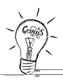 *FREE* Genius Hour Workbook/Notebook Title Page
