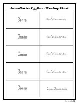 {FREE!} Genre Easter Egg Hunt Printable Resources
