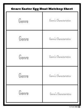 {FREE!} Genre Easter Egg Hunt Printable Resources