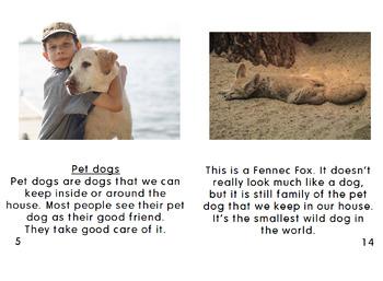 [FREE] Grade 2-3 Printable English Book Dogs | Reading Comprehension |