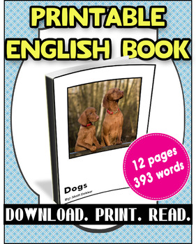 [FREE] Grade 2-3 Printable English Book Dogs | Reading Com