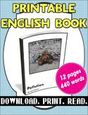 [FREE] Grade 3-4 Printable English Book: Pollution | Readi