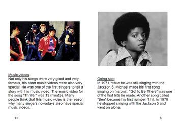 [FREE] Grade 5-6 Printable English Book Michael Jackson |Reading Comprehension|