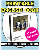 [FREE] Grade 7-8 Printable English Book Penguins | Reading Comprehension |